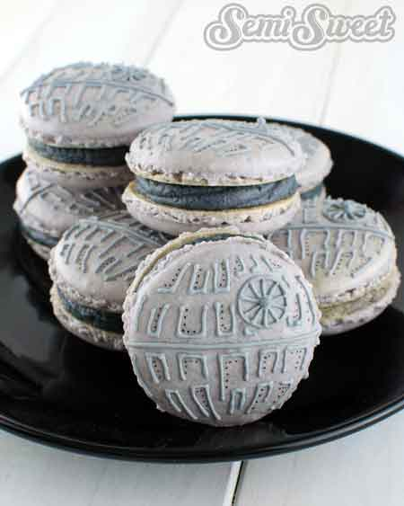 star wars macaroons death star