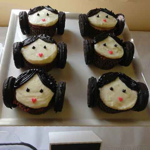 star wars cupcakes princess leia
