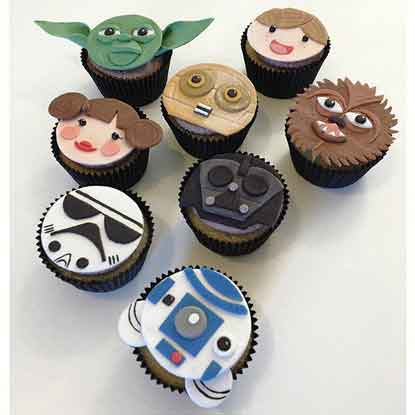 star wars edible fondant cupcake toppers