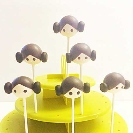 star wars cake pops princess leia