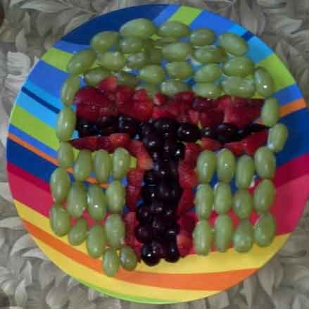 star wars fruit plate boba fett