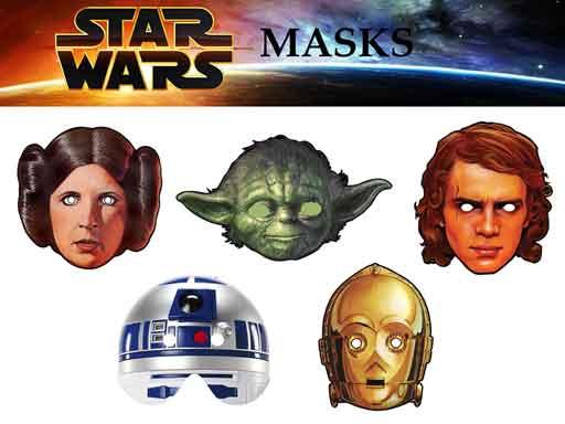 star wars paper masks