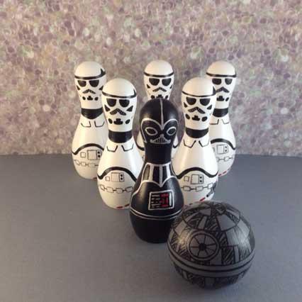 star wars bowling set