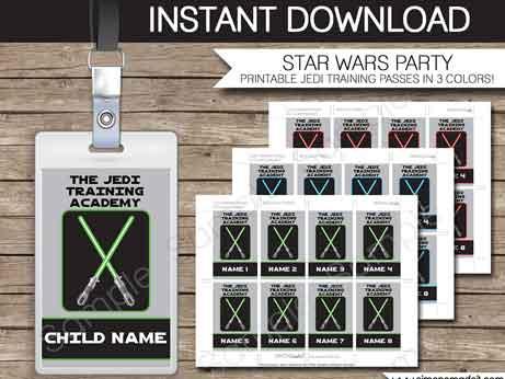 jedi training academy printable passes
