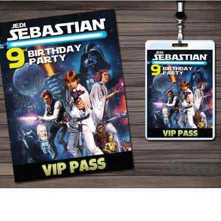 star wars vip pass invitation