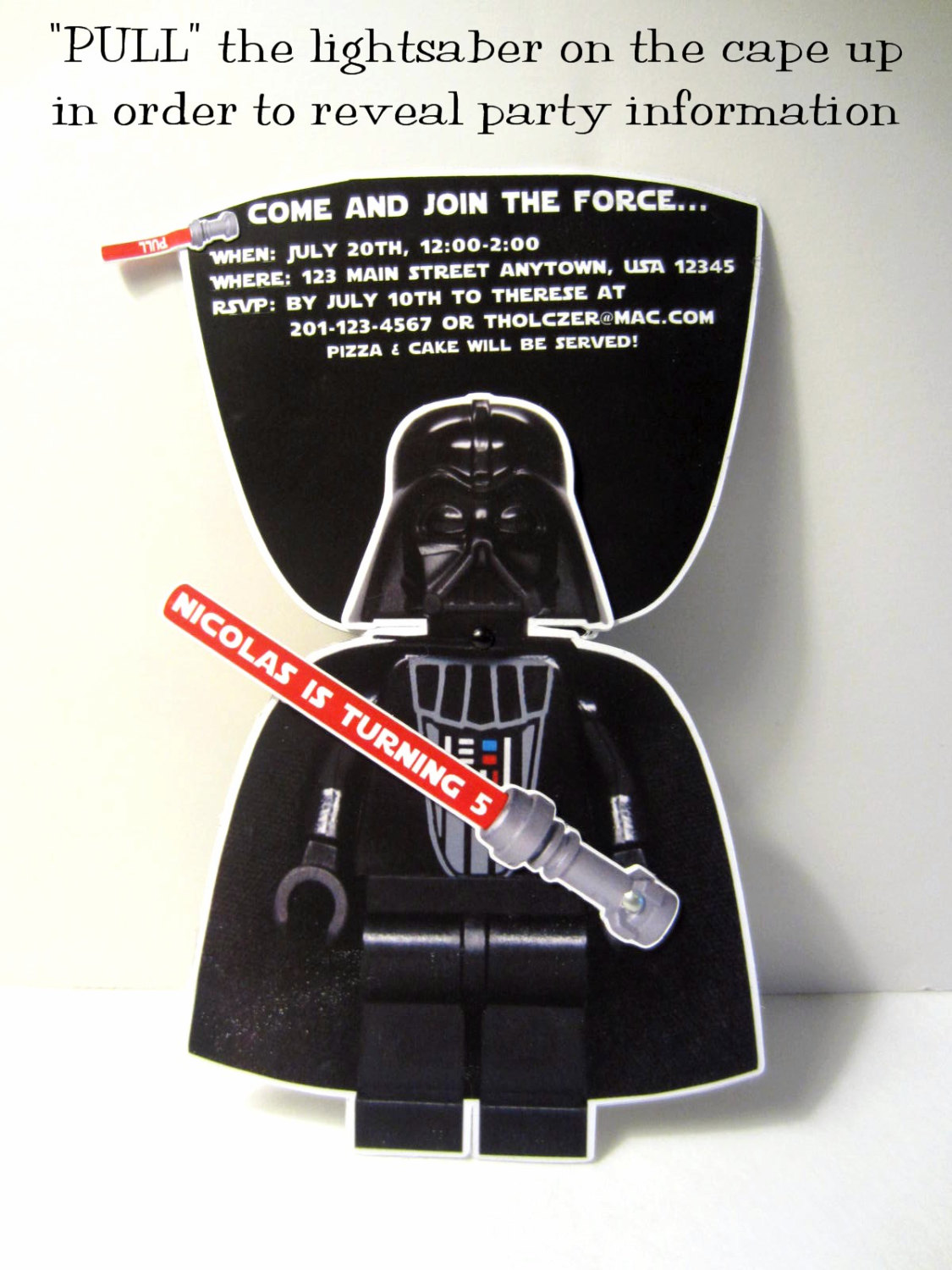 darth vader invitation