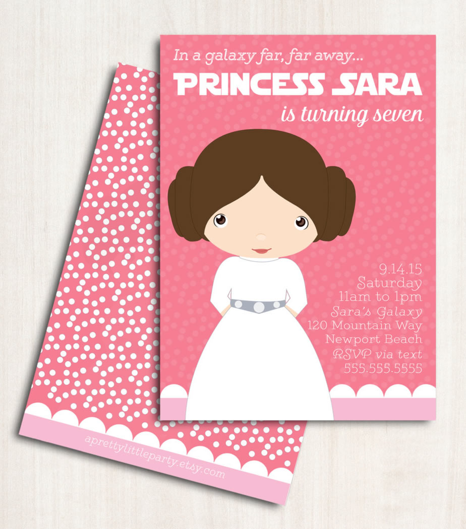 princess leia invitation