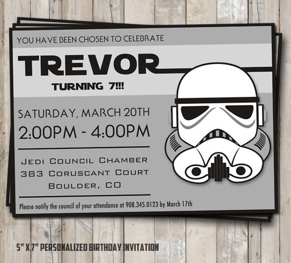 star wars birthday invitation stormtrooper