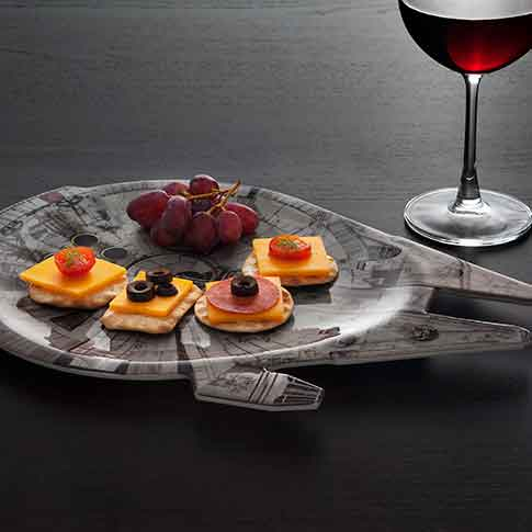 star wars serving tray millenium falcon