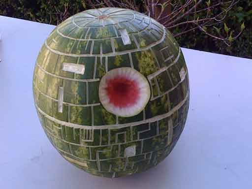 star wars death star watermelon