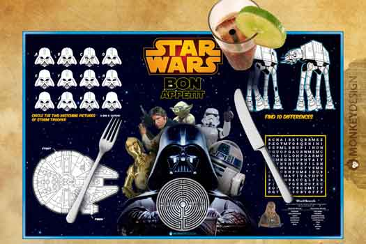 star wars activity placemats