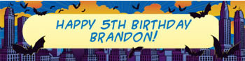 personalized superhero banner