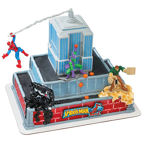spiderman cake decorations