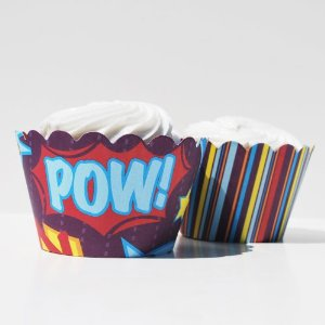 superhero cupcake wrappers
