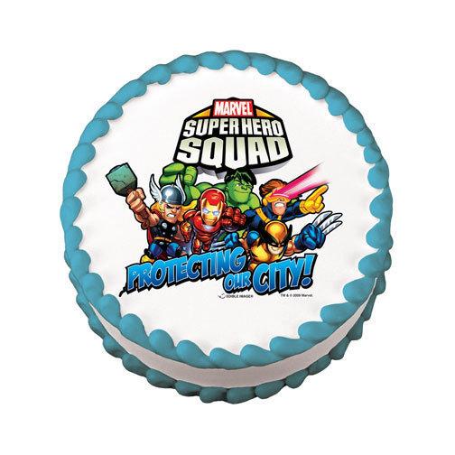 superhero edible cake image