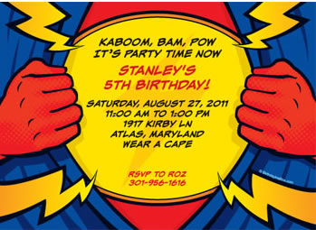 personalized superhero invitations