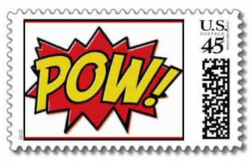 superhero stamps