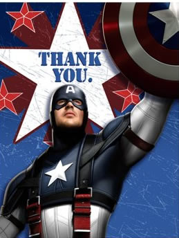 superhero thank you notes