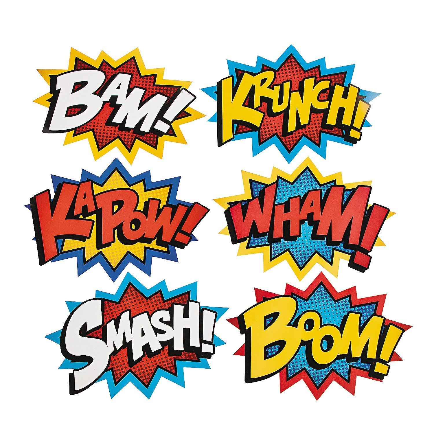 superhero word cut outs