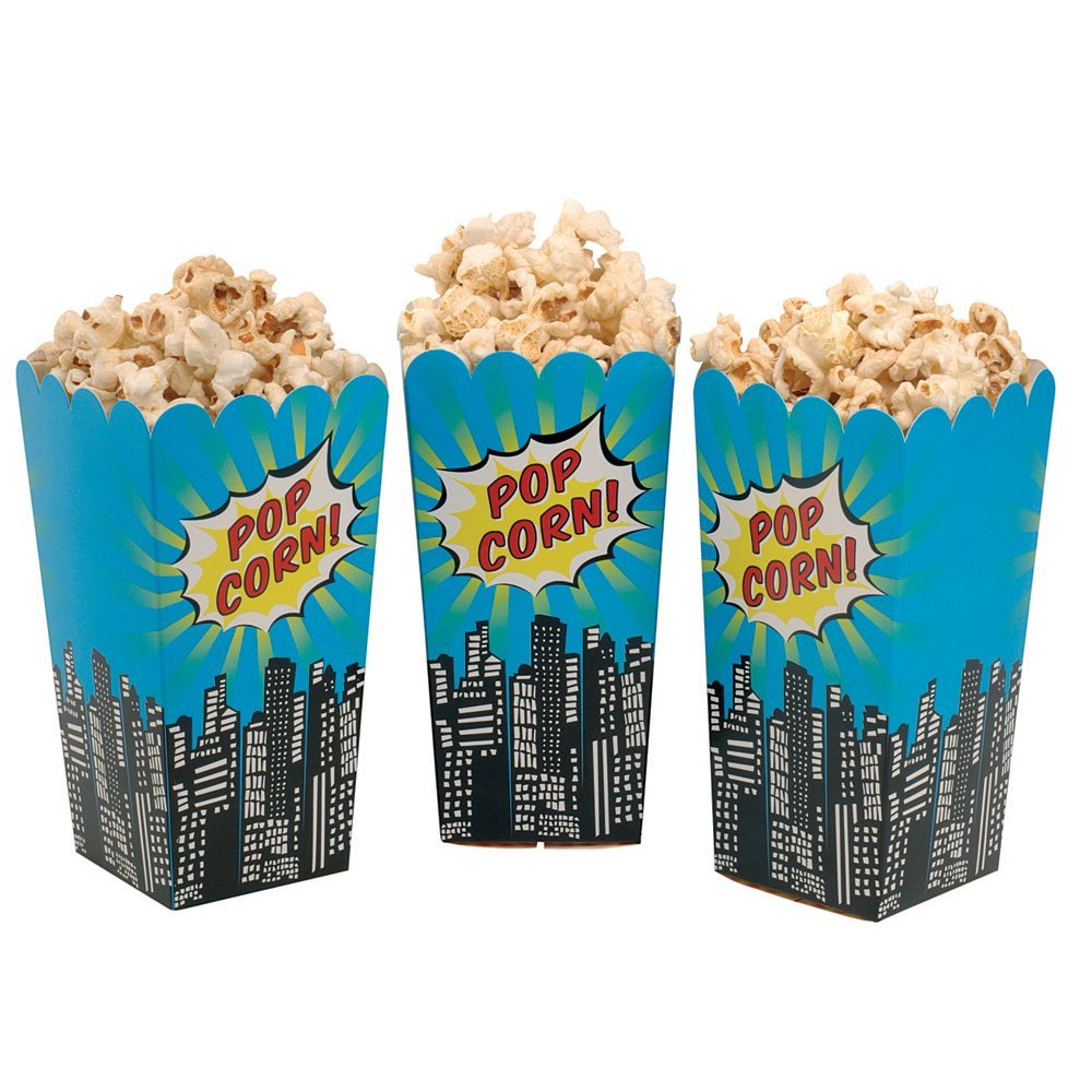 superhero party popcorn boxes