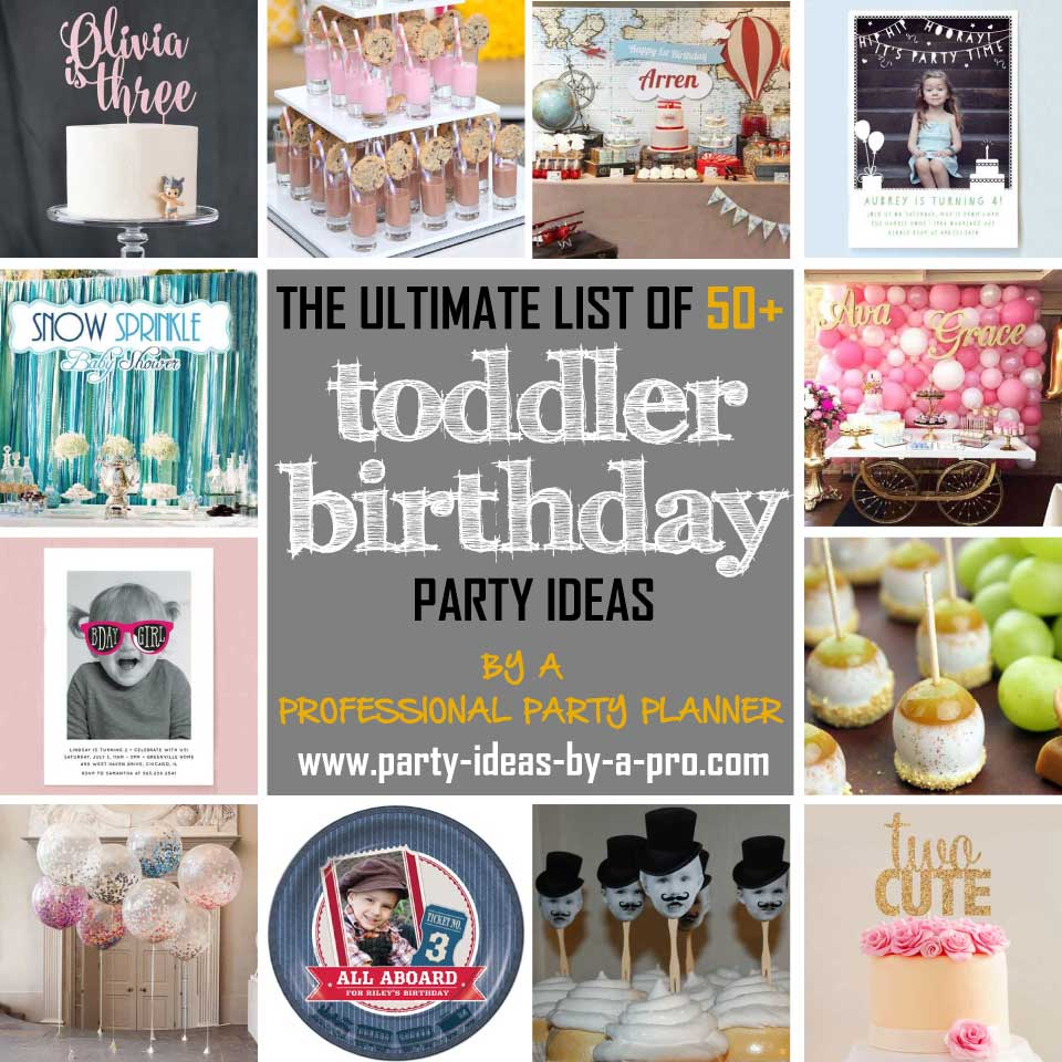 Toddler Birthday Party Ideas Collage