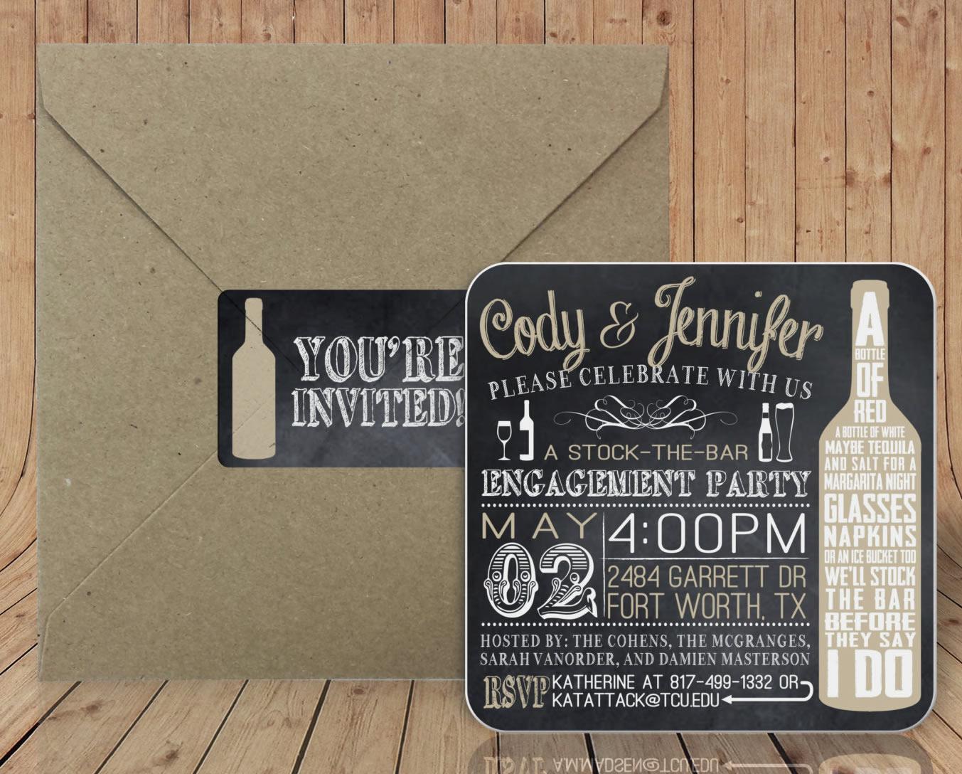 coaster invitation