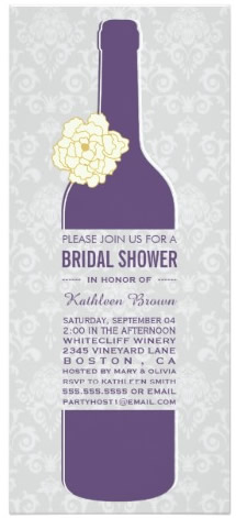 bridal shower bottle invitation