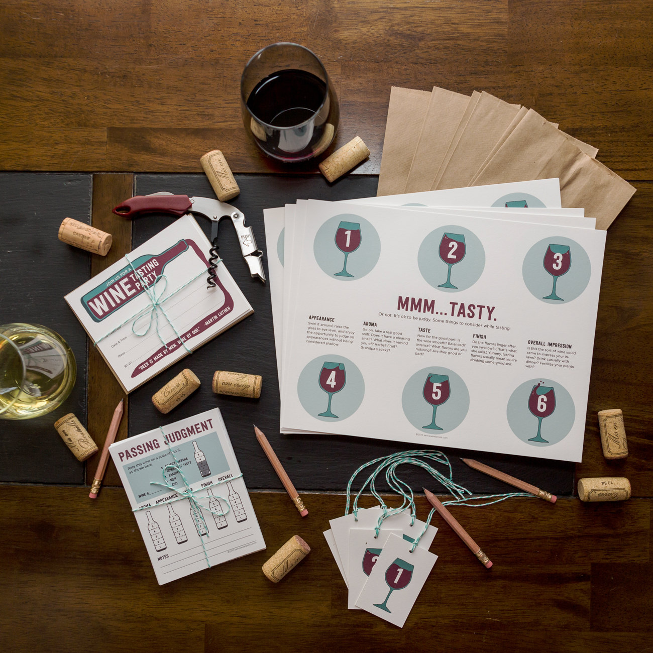 blind wine tasting kit