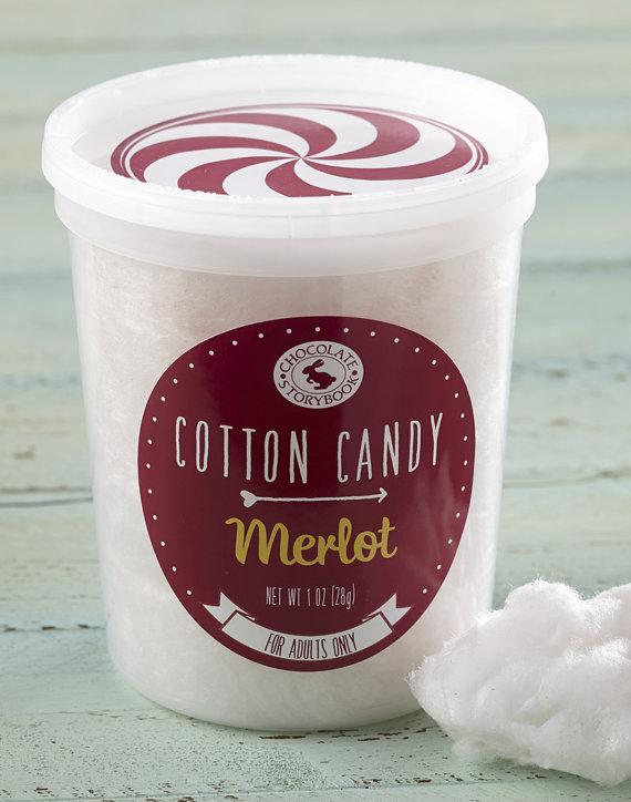 wine flavor cotton candy