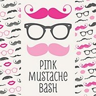 Pink Mustache party theme