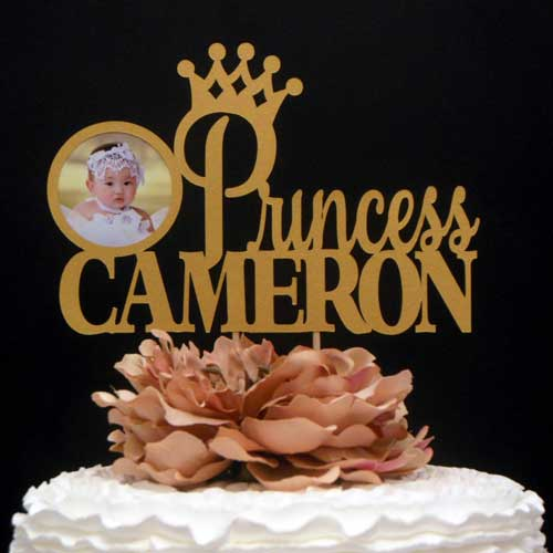 personalized photo cake topper