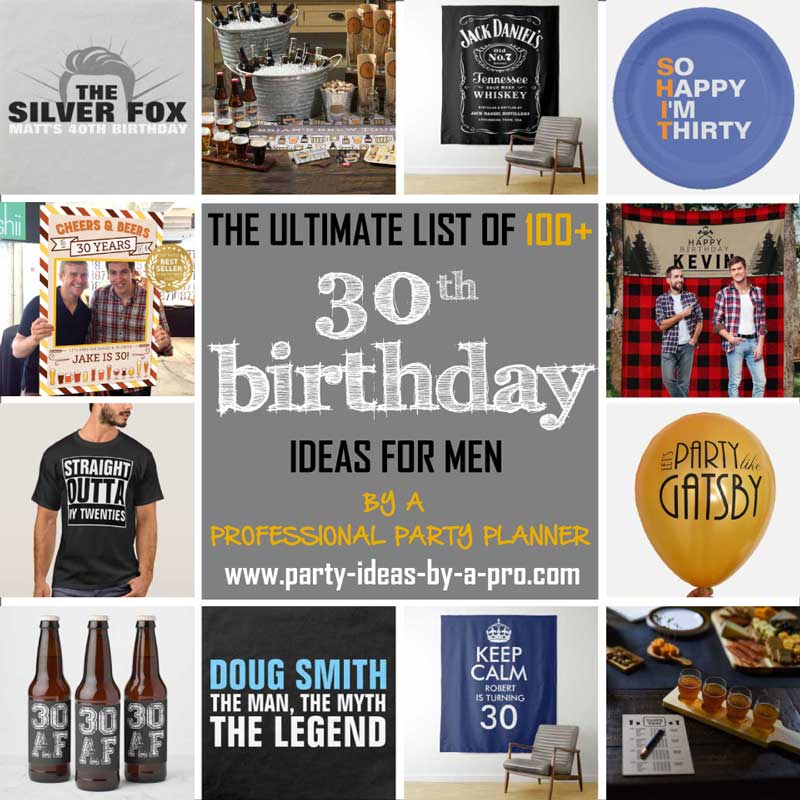 30th birthday ideas for men collage