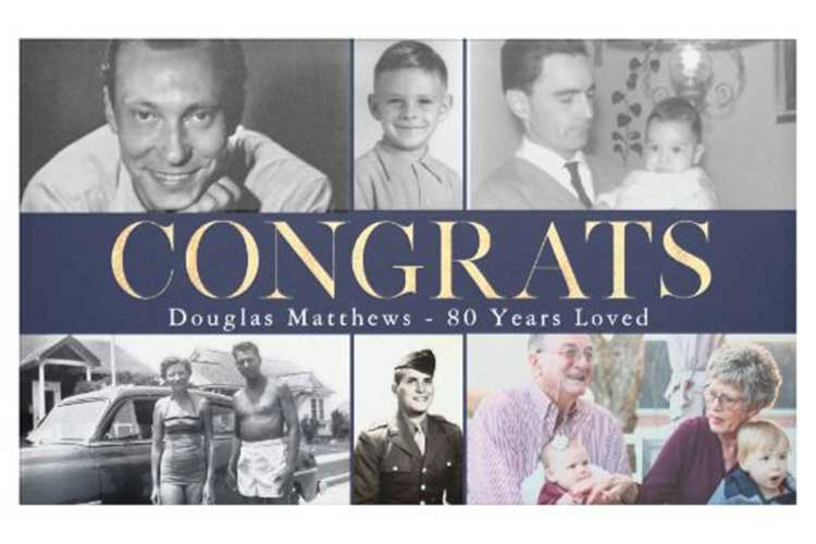 Through the Years photo collage banner
