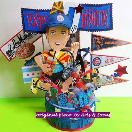 30th birthday cartoon figure cake topper