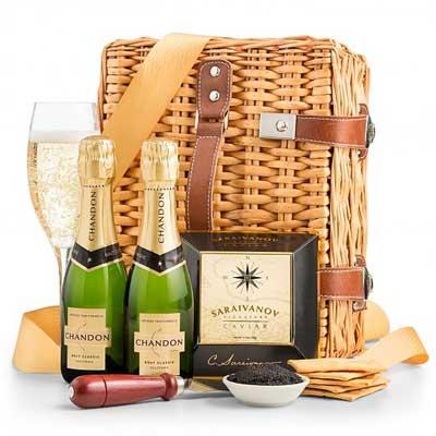Champagne & Caviar Basket