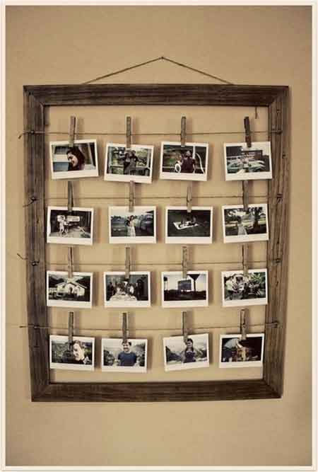 30th birthday party polaroid guest photos display