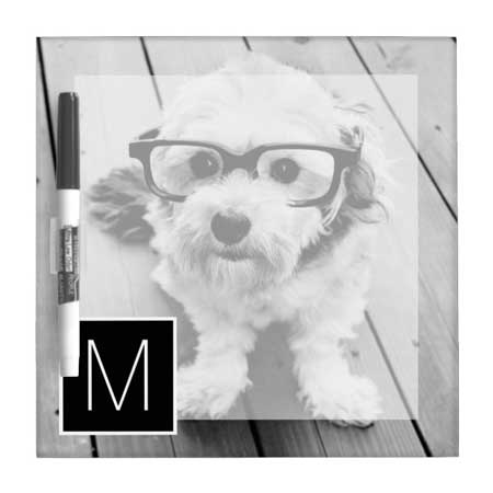 personalized photo white board