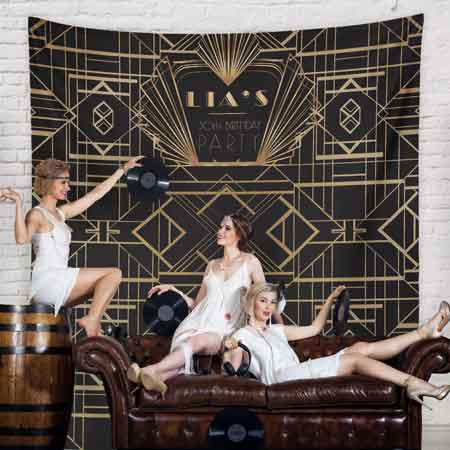 Great Gatsby Art Deco style backdrop