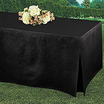 black fitted tablecover