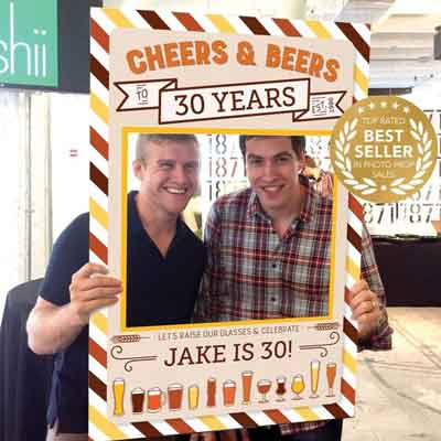 cheers and beers to 30 years photobooth props