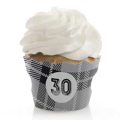 Aged to Perfection 30th birthday cupcake toppers