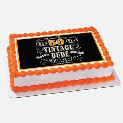 Vintage Dude cake topper
