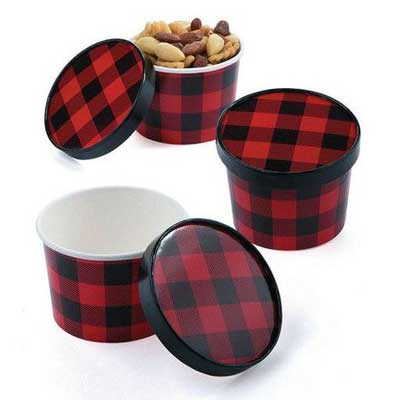 lumberjack plaid food containers
