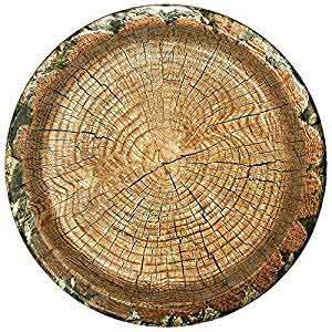 tree trunk party plates