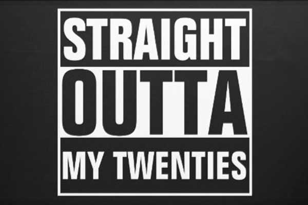 Straight Outta My Thirties party theme