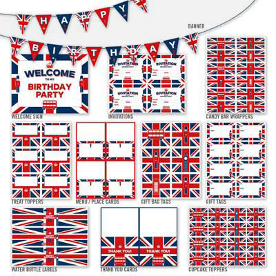 British theme party decorations