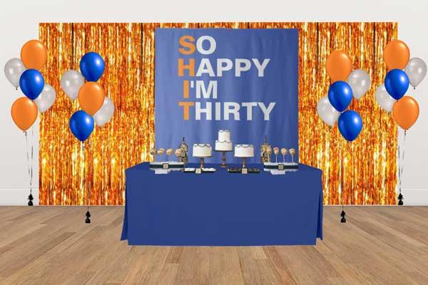 So Happy I'm Thirty dessert table