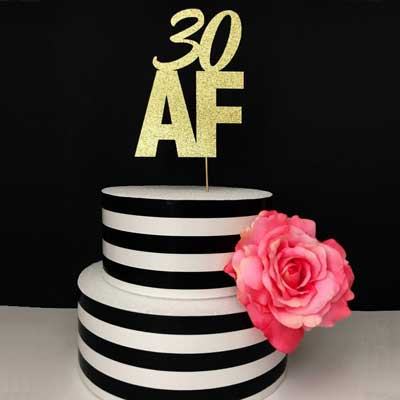 30 AF cake topper