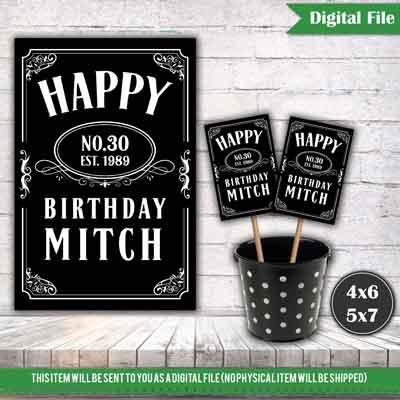 custom Jack Daniels whiskey party centerpiece