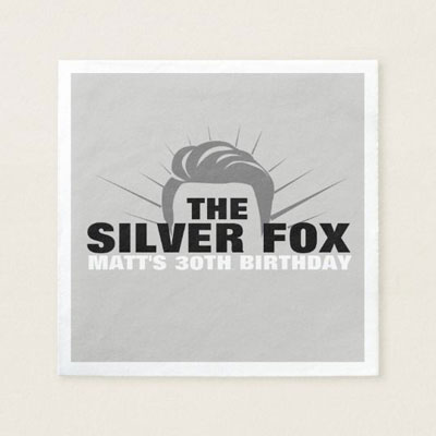 The Silver Fox paper napkins